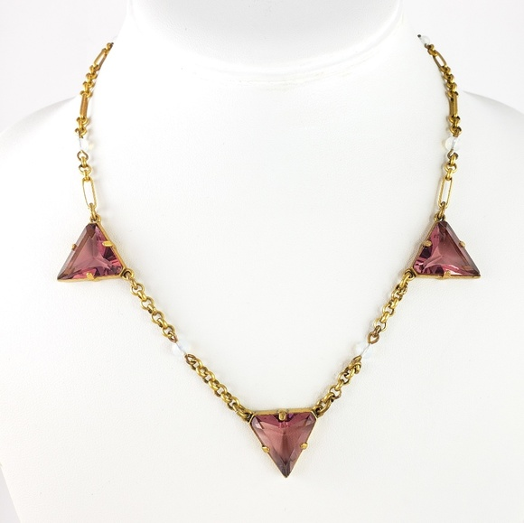 J. Crew Jewelry - J. Crew Necklace Violet Faceted Glass Stones
